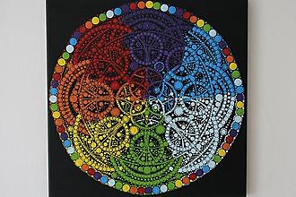 Obrazy - Mandala Čakrový Kruh - 10891076_