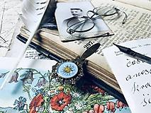 "Papiernictvo - Okrúhla botanická záložka ""Bellis Gold"" - 10889797_"