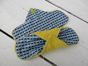 Úžitkový textil - denné látkové vložky-v žltej - 10889158_