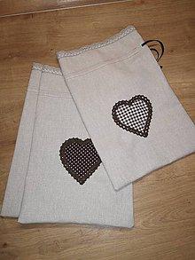 Úžitkový textil - Hnedo béžové vrecúška na bylinky - 10890266_