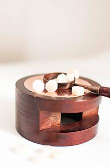 Suroviny - Pečatný vosk - granulát / až 32 odtieňov (Slonovinová metalická) - 10890293_