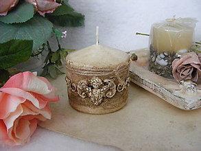 Svietidlá a sviečky - vintage sviečka ... - 10889123_