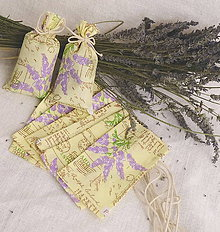 Úžitkový textil - Vrecúško na levanduľu (žlté s levanduľou) - 10891145_