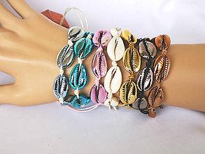 Náramky - Pokovené náramky z mušlí kauri - 10890590_