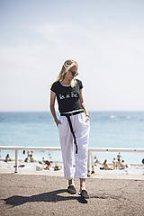 Nohavice - Ľanové nohavice biele - 10892591_