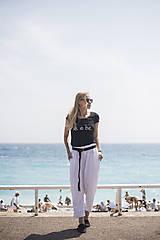 Nohavice - Ľanové nohavice biele - 10892594_