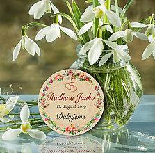 Darčeky pre svadobčanov - Svadobná magnetka - 10892520_