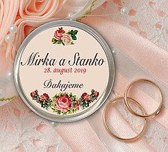 Darčeky pre svadobčanov - Svadobná magnetka - 10892553_