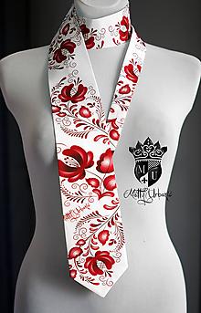 Doplnky - kravata FOLK II.RED - 10891740_
