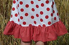 Detské oblečenie - Šatočky Bodkované s volánom - 10892169_