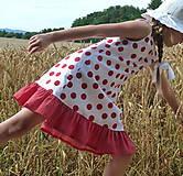 Detské oblečenie - Šatočky Bodkované s volánom - 10892170_