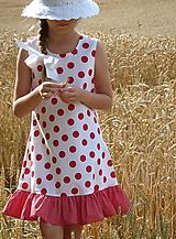 Detské oblečenie - Šatočky Bodkované s volánom - 10892177_