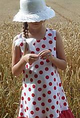 Detské oblečenie - Šatočky Bodkované s volánom - 10892178_