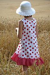 Detské oblečenie - Šatočky Bodkované s volánom - 10892179_