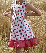 Detské oblečenie - Šatočky Bodkované s volánom - 10892180_