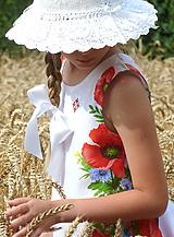 Detské oblečenie - Šatočky Maková výšivka - 10892193_