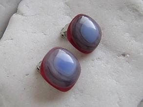 Náušnice - Studničky v červenom - 10893052_