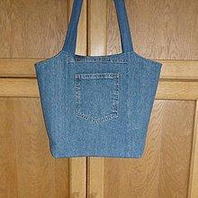 Kabelky - Ríflová taška (tmavomodrá) - 10892616_