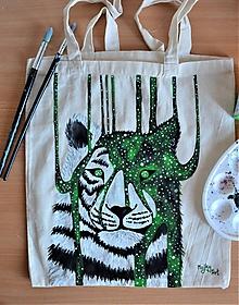 Nákupné tašky - Taška s tigrom - 10893878_