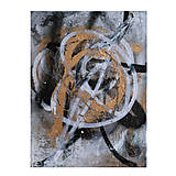 Obrazy - Boj /maľba sprejmi a akrylom na plátne/ A4 - 10893220_