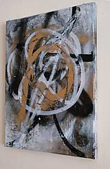 Obrazy - Boj /maľba sprejmi a akrylom na plátne/ A4 - 10893228_
