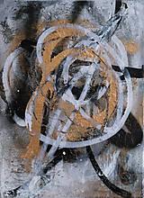 Obrazy - Boj /maľba sprejmi a akrylom na plátne/ A4 - 10893229_