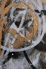 Obrazy - Boj /maľba sprejmi a akrylom na plátne/ A4 - 10893231_