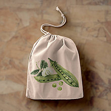 Iné tašky - Hrášok (bavlnené vrecko) - 10893450_