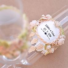 Nádoby - Boho svadba - lúka, lapač snov - sada svadobných pohárov - 10893510_