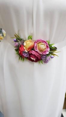 Opasky - Romantický vetinový opasok k spoločenským šatám - 10893338_