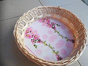 Dekorácie - Kruhový košíček z pedigu - 10893024_