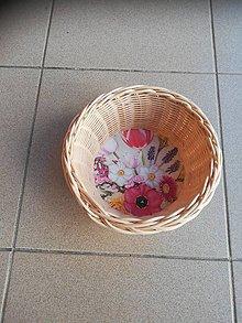 Dekorácie - Kruhový košíček z pedigu - 10893065_