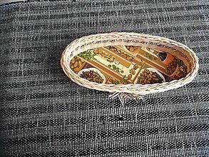 Dekorácie - Elipsovitý košík z pedigu + morská tráva - 10893187_
