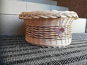 Dekorácie - Kruhový košík na ovocie z pedigu - 10893205_