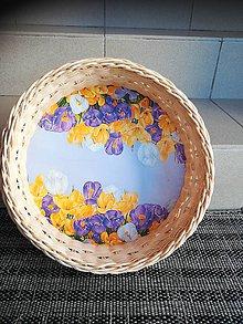Dekorácie - Kruhový košík z pedigu - 10893227_
