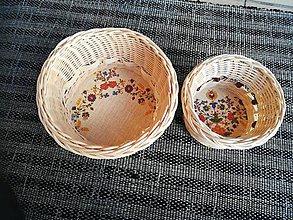 Dekorácie - Dva kruhové košíčky z pedigu - 10893247_