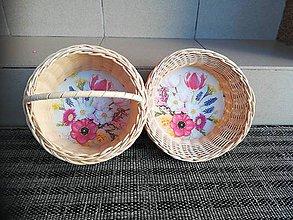 Dekorácie - Dva košíčky z pedigu - 10893261_