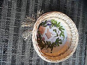 Dekorácie - Kruhový košíček z pedigu + morská tráva - 10893291_