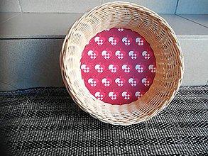 Dekorácie - Kruhový košíček z pedigu - 10893294_