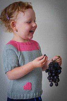 Detské oblečenie - Detský pletený svetrík vol. 3 - 10892761_