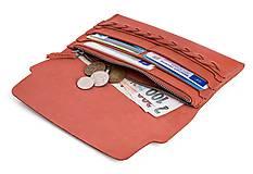 Peňaženky - Kožená peněženka Moneta Efferta Cinamonnea - 10892097_