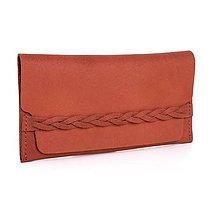Peňaženky - Kožená peněženka Moneta Efferta Cinamonnea - 10892098_