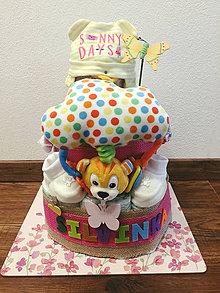 Detské doplnky - Plienková torta Silvinka - 10891853_