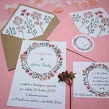 Papiernictvo - Ružový venček - svadobné oznámenie - 10892423_