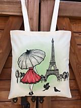 Nákupné tašky - Plátená taška - Paríž - 10892940_