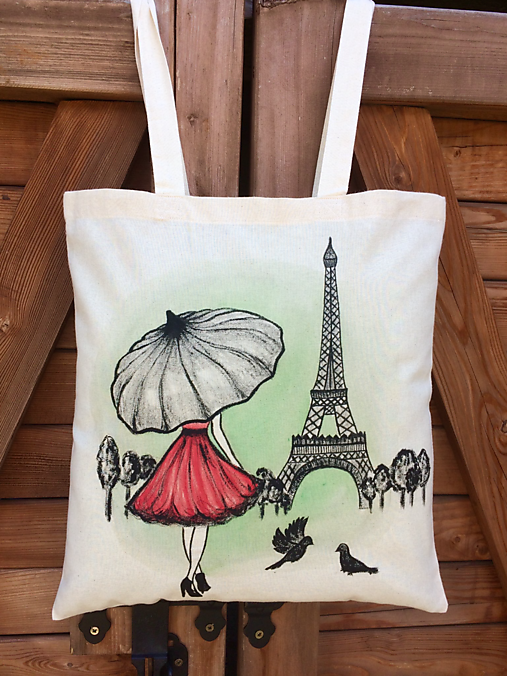 Plátená taška - Paríž