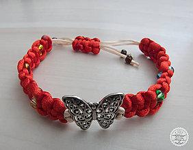 """Náramky - Ručne vyrobený náramok """"Motýľ"""" - 10894190_"""