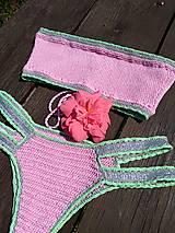 Bielizeň/Plavky - Výpredaj - Háčkované plavky Júlia - 10892798_