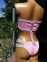 Bielizeň/Plavky - Výpredaj - Háčkované plavky Júlia - 10892800_