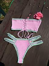 Bielizeň/Plavky - Výpredaj - Háčkované plavky Júlia - 10892803_